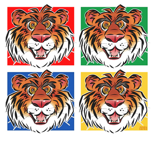 Tiger Times Four