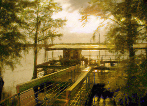 The Dock Of the Bayou Barge