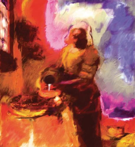 The Milkmaid, After Vermeer