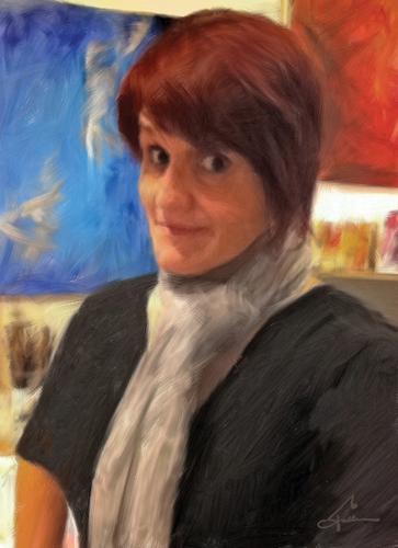 The Artist Judy Schumaker In Her Studio