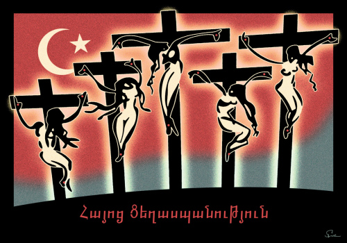 The Crucifixion of Christian Armenian Women By the Ottoman Empire