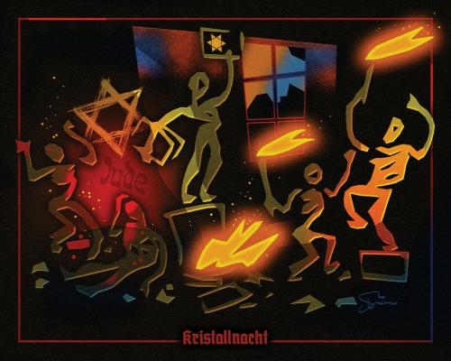Kristallnacht by Van Evan Fuller