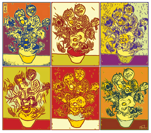Six Variations On Vincent's Sunflowers