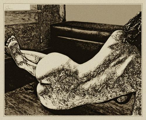 Molly, Sepia Study