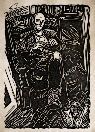 Old Man In An Armchair