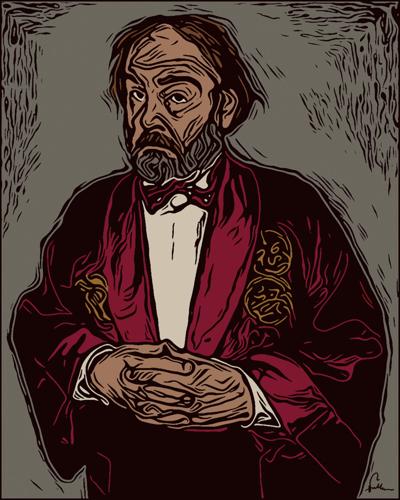 Woodblock Self Portrait