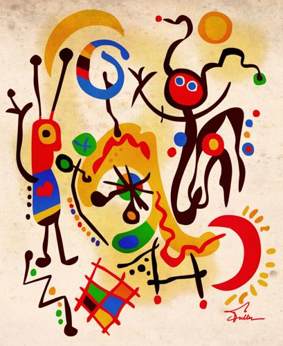 Joan Miro Has Eaten All the Bean Dip