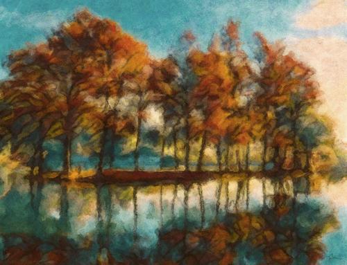 Lakeside Trees, Near Basingstoke