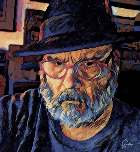 Self Portrait In Black Fedora