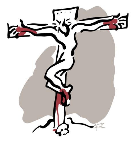 White Crucifixon