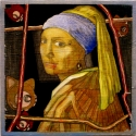 "a fanciful take on Vermeer's ""Girl with a Pearl Earring"" (thumbnail)"