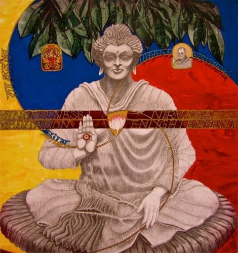 Fearless Buddha by Vaughn  Clay