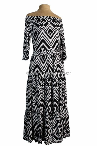 Southwest Off-Shoulder Dress by Virginia Yazzie Ballenger