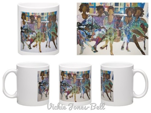 Sistagirls Mug by Vickie Jones-Bell