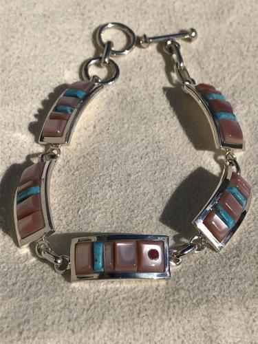 Silver link bracelet  by Veronica Benally