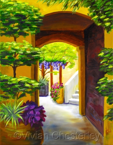 Courtyard by Vivian Chesterley