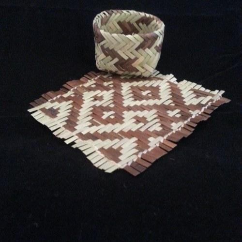 Rivercane mat & basket set by Vivian Cottrell