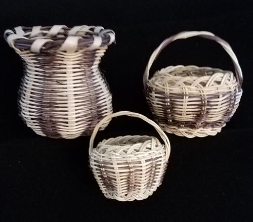 Miniature honeysuckle baskets
