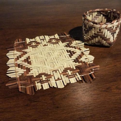 Mini rivercane mat & basket set