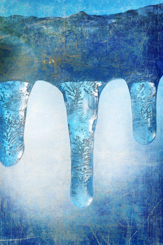 Blue Icicles by Veda Gonzalez, Artist
