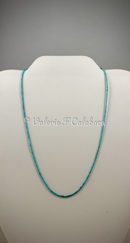 Super Fine Turquoise Heishi Necklace