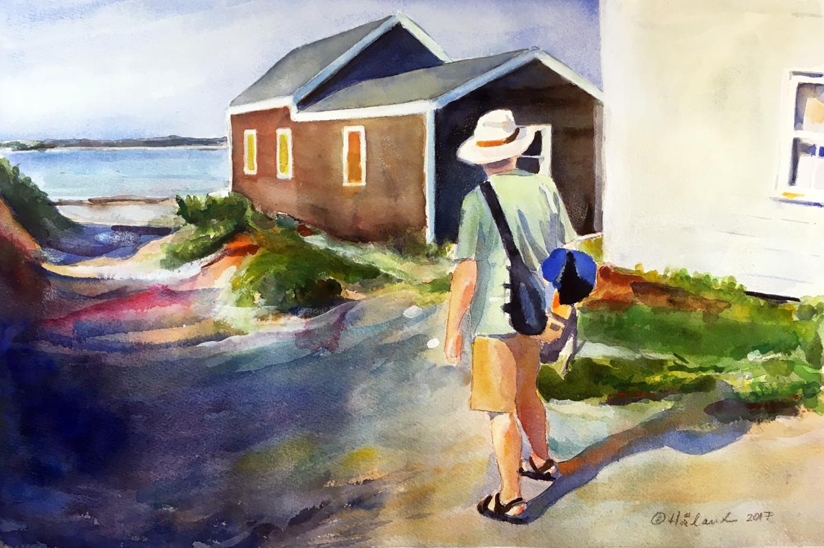 The Walk on Block Island (large view)