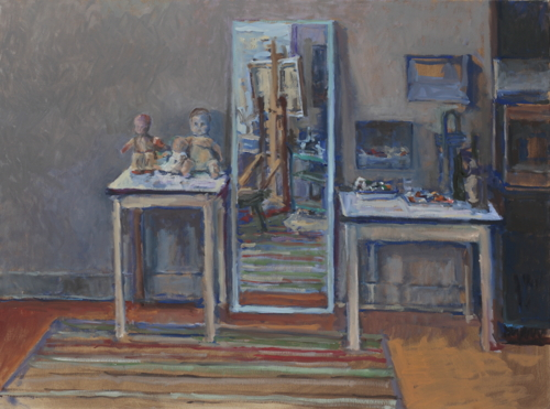 Studio interior with mirror