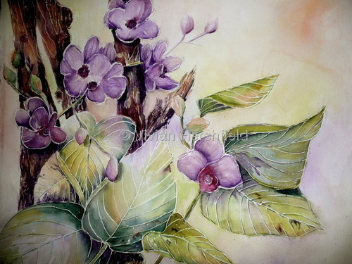Batik Style Orchid