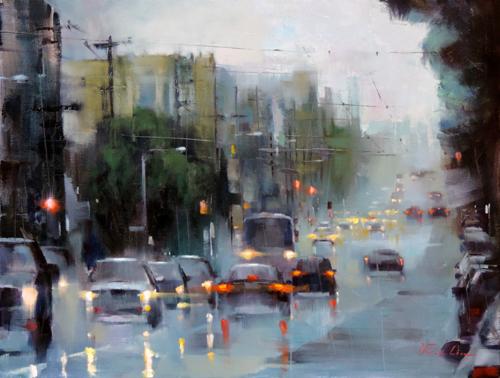 Rainy Day at Fulton Street