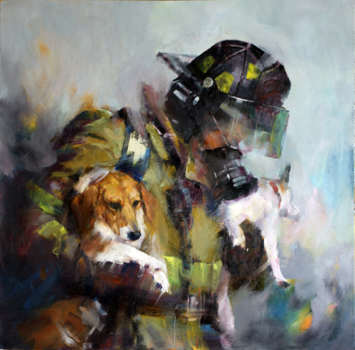 Courage - Fireman and Dogs