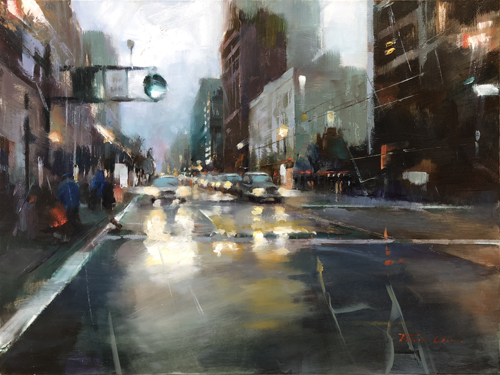 Crossing the Market Street