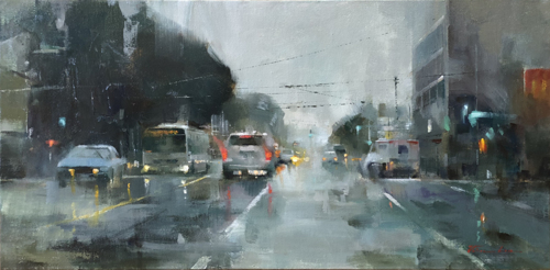 A Wet Day on Potrero Avenue