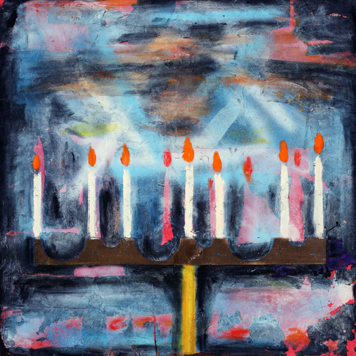 Four Religions - Judaism, Chanukah Candles