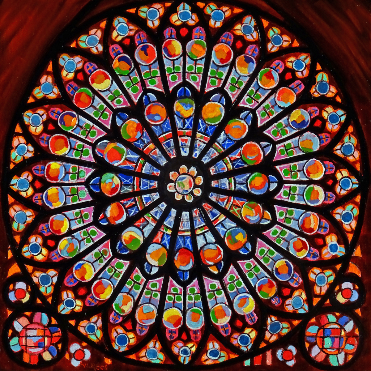 Rose Window, Notre Dame (large view)