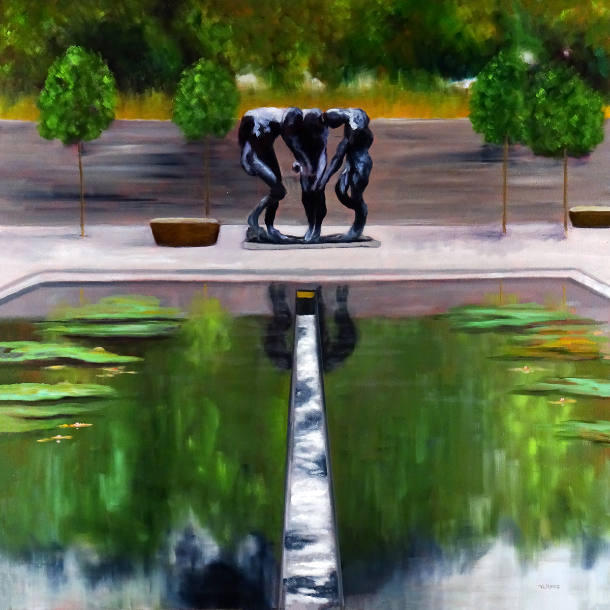 """The Three Shades"" at the NCMA (large view)"