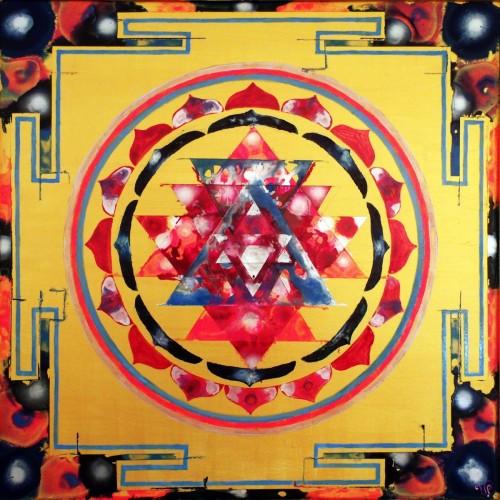 Cross-Cultural Mandala by Victoria Pendragon Paints