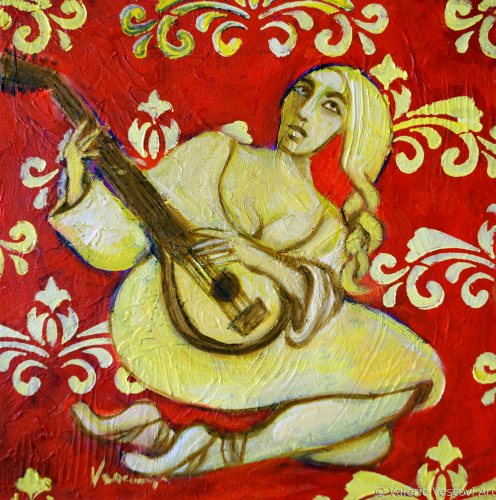 Lute with Patterns