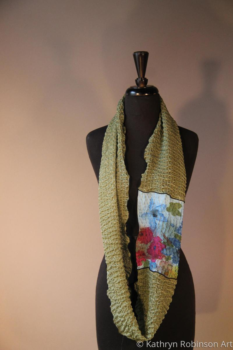 Bubble infinity scarf-olive (large view)