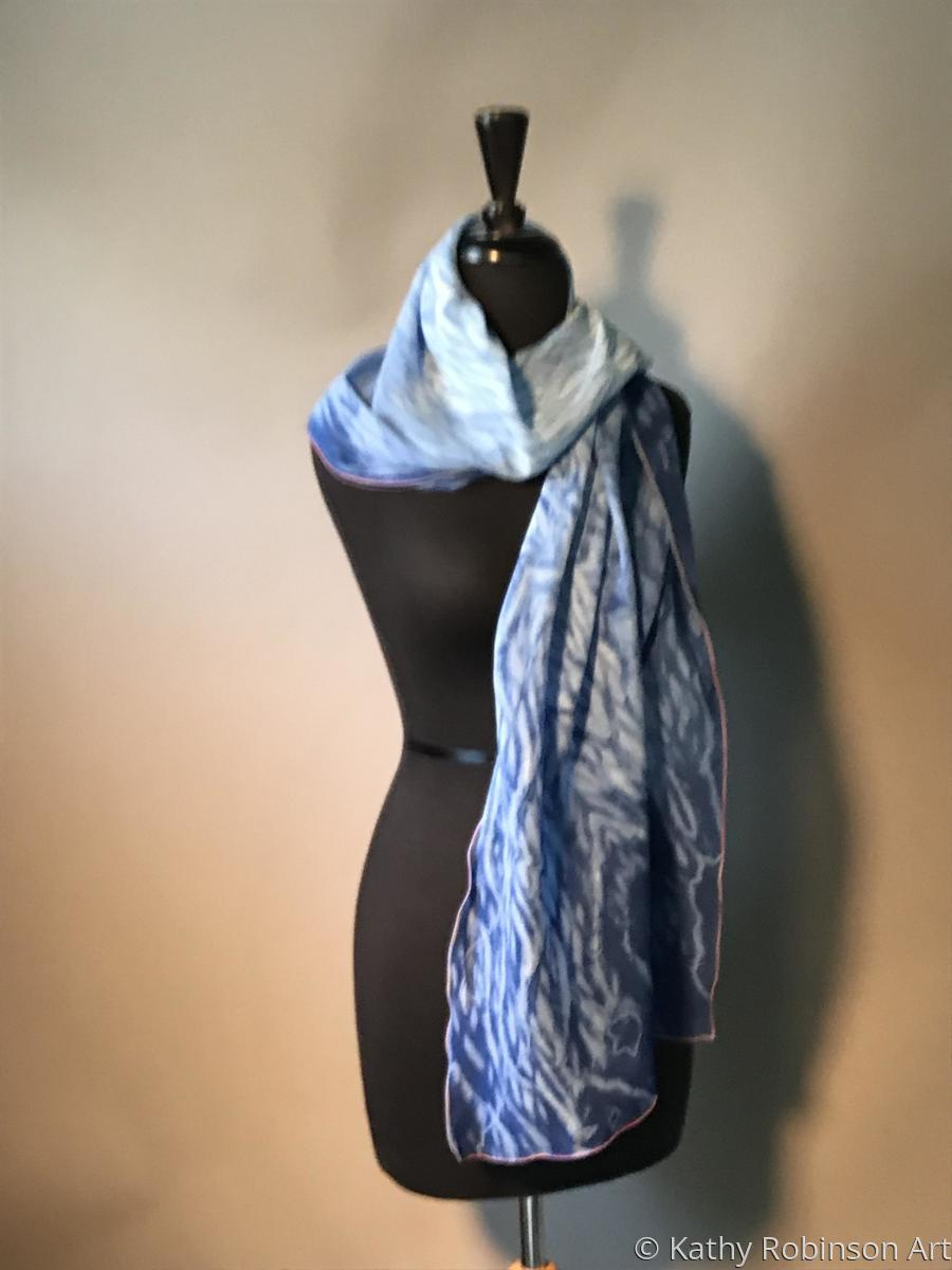Blue Wave scarf (large view)
