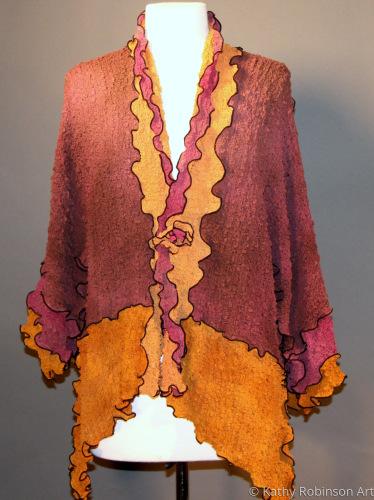 silk bubble pieced jacket