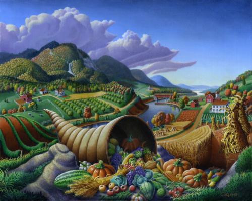 Horn Of Plenty cornucopia by Walt Curlee Art