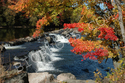 Fall Color at Glenerie Falls, NY