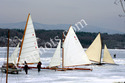 Ice Yachts On Frozen Hudson River