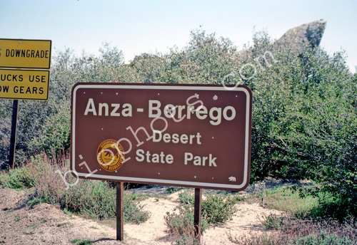 Anza-Borrego Dessert State Park Sign