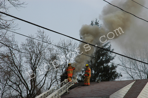 Chimney Fire with Firefighters
