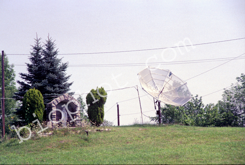 Shrine with Satellite Antenna