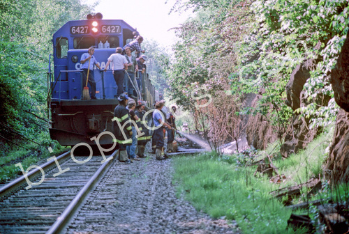 Track Side Fire Conrail Assistance