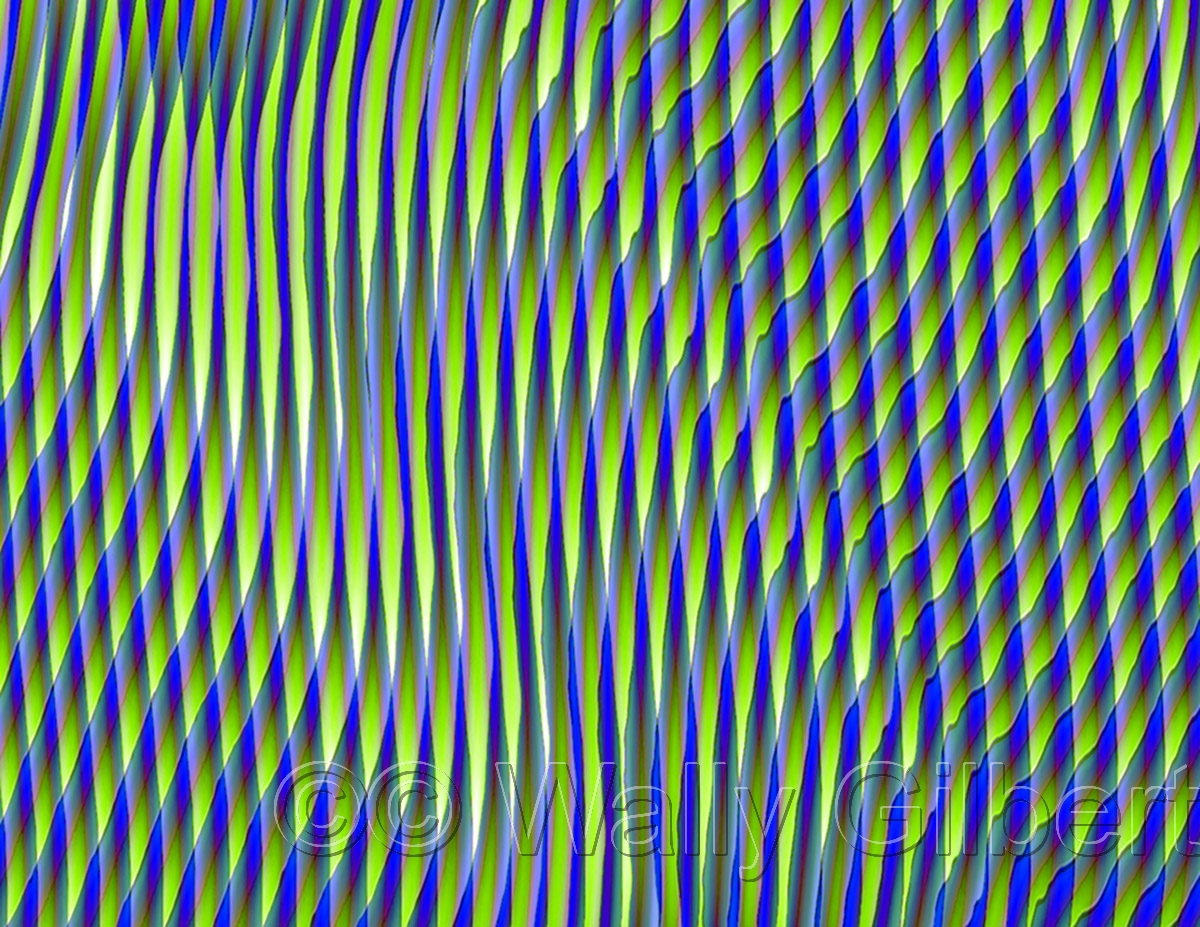 Two Color Blue-Green Points #2 (large view)