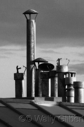 Chimneys - Paris #2 BW