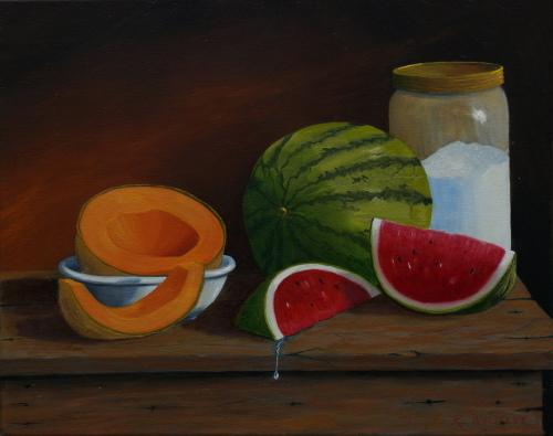 Melons with Sugar Jar